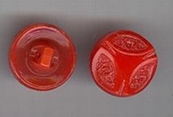 Glasknoop - rood  14 mm