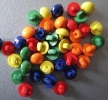 6 knöpfe -Orange  5 mm