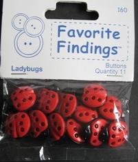 Ladybugs  18 x 15 mm