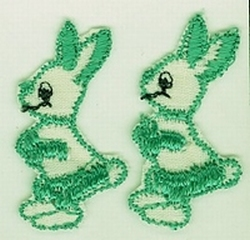 2 Kaninchen  40 x 20 mm