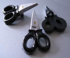 knoop - Schaartje zwart  34 x 20 mm