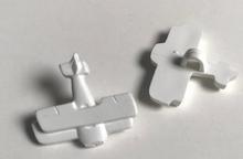 Vliegtuig - wit  17 x 19 mm