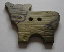 Koe - bruin  30 x 24 mm