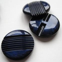Grote - Knoop - blauw  33 mm