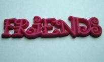 Friends - Roze  10 x 35 mm