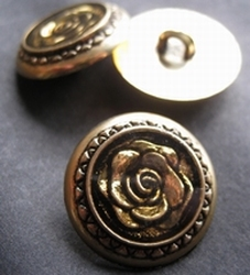 Gold-Knoop  22 mm