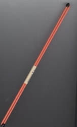 2 Knitting needles - orange  29 cm
