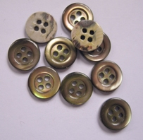 Button - Mother Of Pearl  12 mm