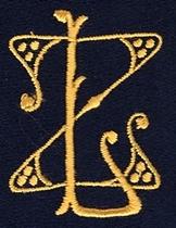 Monogram Z.L.  4 x 3 cm