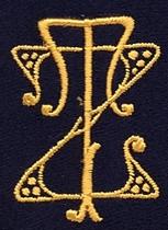 Monogram Z.T  4 x 3 cm