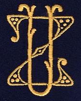 Monogram Z.U.  4 x 3 cm