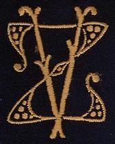 Monogram Z.V.  4 x 3 cm