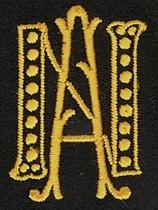Monogram N.A.  4 x 3 cm