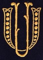 Monogram U.U.  4 x 3 cm