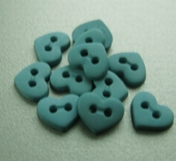 6 Miniherz - Grün/Blau  6  x 7 mm