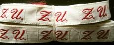 1 Initiaal - Lint Z.U.  Lint 1 cm breed