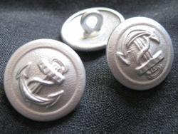 Ankerknopf-silberfarbe  18,5 mm