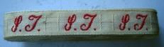 1 Initiaal - Lint S.J.  Lint 1 cm breed