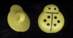 Lieveheerbeestje - geel  14 mm