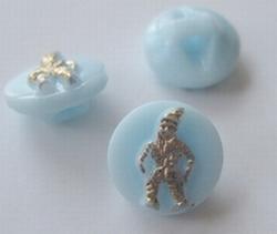 Button-Blue  11 mm