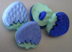 Aardbei - donkerblauw  15 x 15 mm