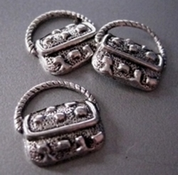 1 Tibetan Silver Lady Handbag  18 mm