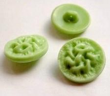 Glasknoop - groen  14 mm