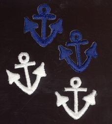 Anchor - blue  20 mm