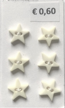 6Sterne Knopfe - Pastelrgelb  8 mm