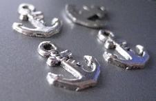 Tibetan Silver Ancre  17 x 14 mm