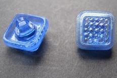 Glasknoop - blauw  12 mm