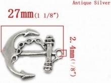 Tibetan Silver Ancre  27 x 24 mm