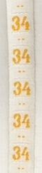 Maatlint - geel  maat 34