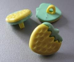 Aardbei - geel  15 x 15 mm