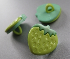 Aardbei - groen  15 x 15 mm