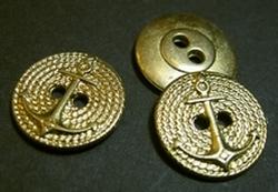 Ankerknopf-goldfarbe  17 mm