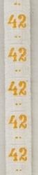 Maatlint - geel  maat 42