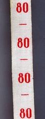 Maatlint - rood  maat 80