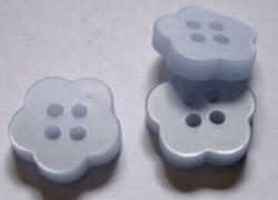 Bloemknoop - l.blauw  13 mm