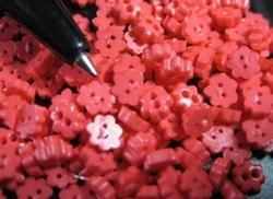 6 Blumknöpfe  4 mm