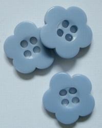 Bloemknoop - blauw  14 mm