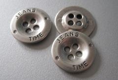 Jeansknoop- zijdeglans  18 mm