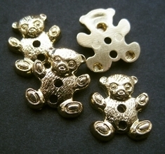 Beertje - goudkleur  16 mm
