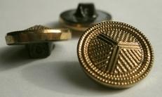 Knopf - Goldfarbe  18 mm
