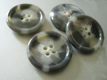 Kostuumknoop - grijs  28 mm