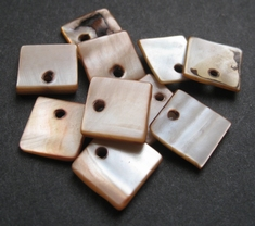 10 Mother Of Pearl  12 x 12 mm