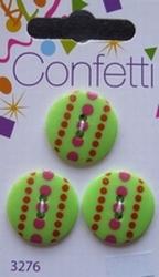 3 buttons - Confetti  20 mm