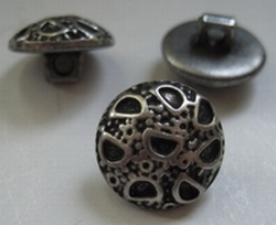 Zilverkleur-Knoop  15 mm