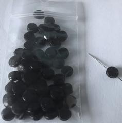 50 zwarte gitjes op streng  7 mm