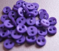 6 Miniknöpfe- violett  4 mm